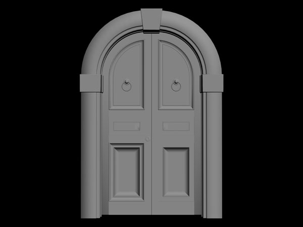 Customary Door House Entry Old Style Doorway 3ds 3d