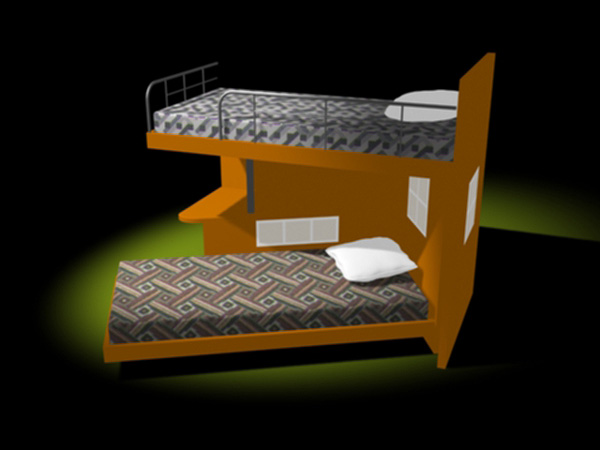 Household Items 2 storey bed out of pine tree. Twin bed Bedroom Furniture  from Home