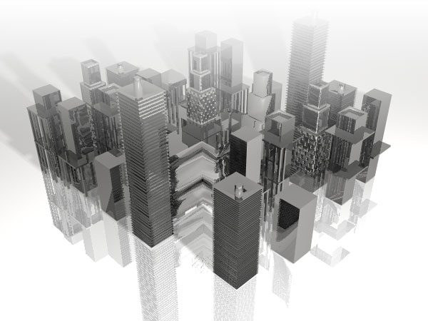 Downtown city block buildings max9, ( max) 3ds max software