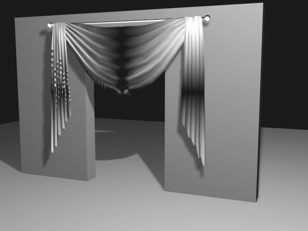 Drapes curtain decoration fabric max 3ds max software for Decoration 3ds max