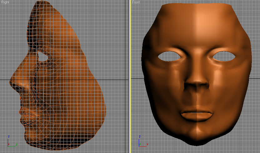 Man face mask modeling head anatomy max 3ds max for 3ds max face modeling