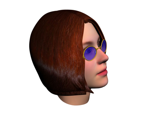 Face woman portrait person glases max 3ds max software for 3ds max face modeling
