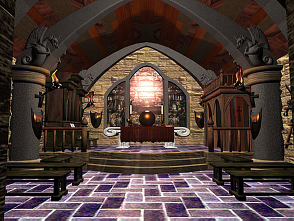 Fantasy Castle Interior Gothic Medieval Palace 3ds 3d