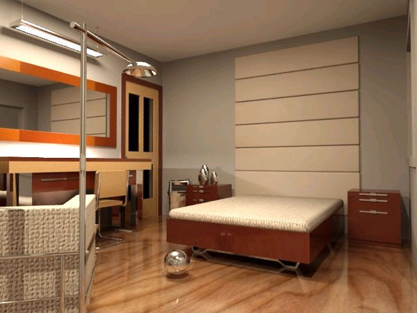 Home interior bedroom house furniture max 3ds max for Model bedroom interior design