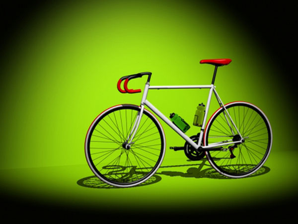 Fixie Bicycle, (.max) 3ds max software Transportation Objects