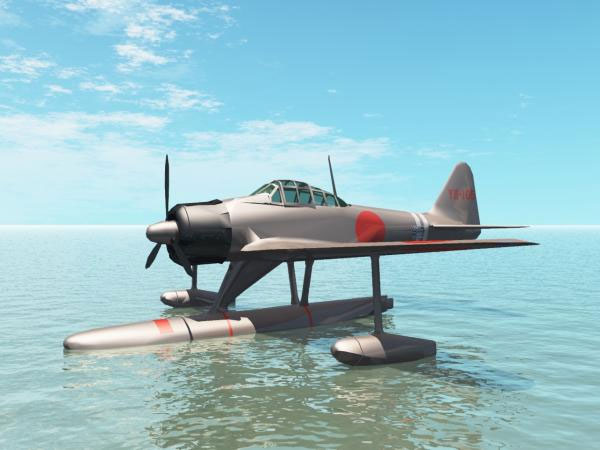 ... hydroplane aeroplane, (.3ds) 3D Studio Max software Military Objects