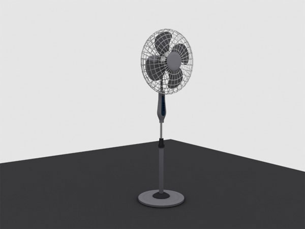 Electric Floor Fan Office Equipment Max 3ds Max