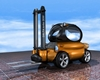 Forklift Delta-2030 fiction freight vehicle, (.3ds) 3D Studio Max