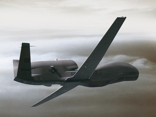 Global Hawk air drone, (.3ds) 3D Studio Max software ...