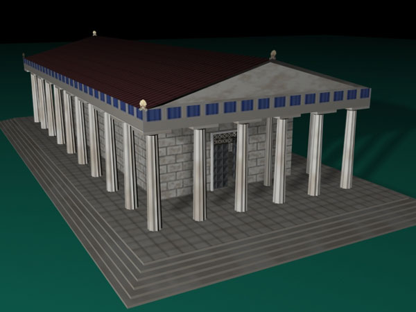 Greek Temple Fantasy Art