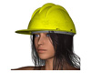 Hardhat Woman Model, (.obj) OBJ.