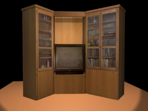 home furniture bookshelf bookcase with textures 3ds 3d