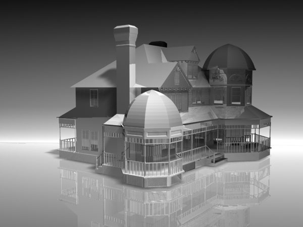 House Architecture Blueprint Max 3ds Max Software