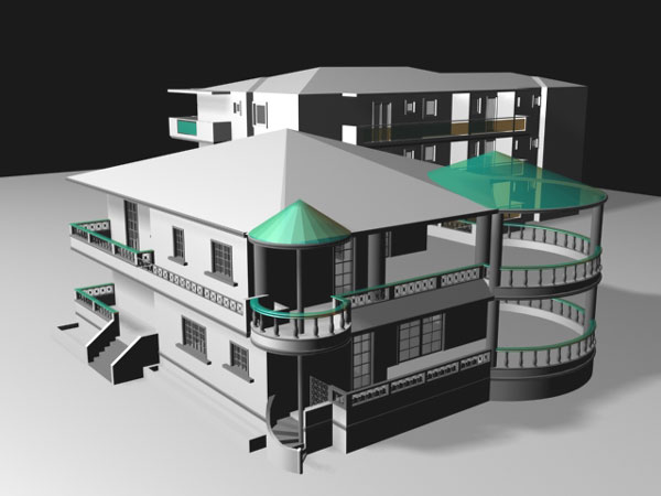 House building residential home max 3ds max software 3d house building