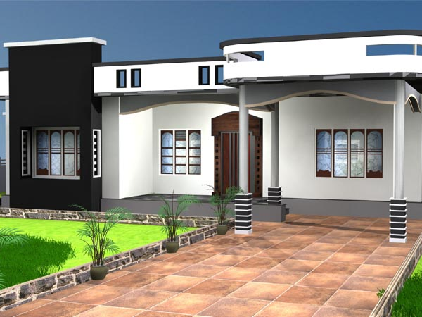 One storey house residential property max 3ds max Latest model houses
