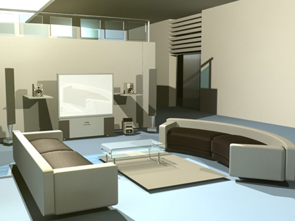 Interior design high tech residence max 3ds max for Room modeling software