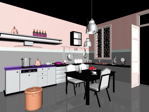 Kitchen design ideas max 3ds max software for Model kitchen design