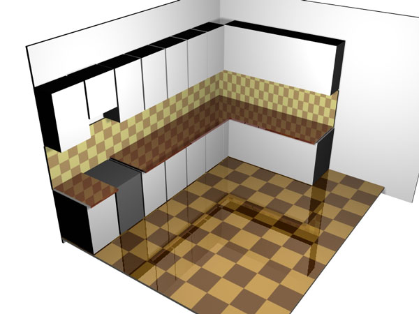 Kitchen Design Layout Project 3ds 3d Studio Max