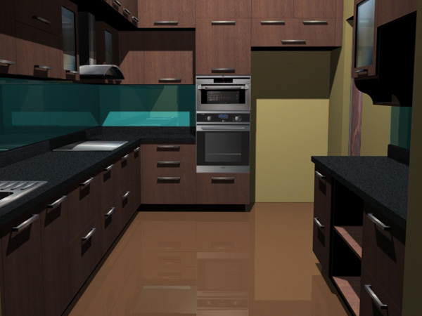 Kitchen set interior and appliances max 3ds max for Kitchen furniture 3ds max free