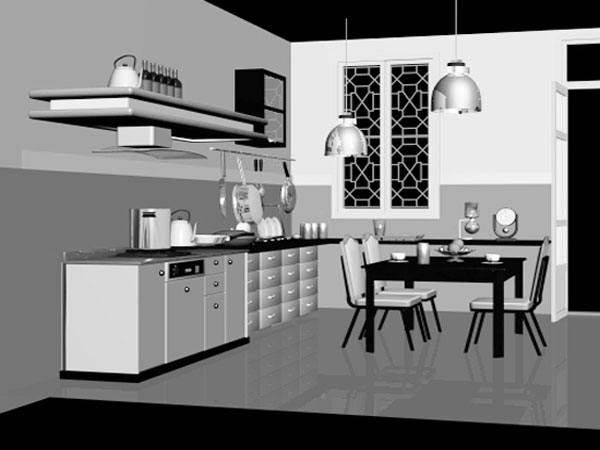 Kitchen Interior Decorating 3ds 3d Studio Max Software
