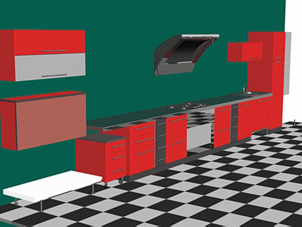 Kitchen set furniture appliances cooking dining 3ds 3d for Kitchen furniture 3ds max free