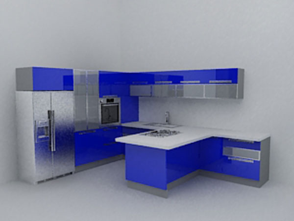 Kitchen set home trends deluxe decoration max 3ds max for Decoration 3ds max