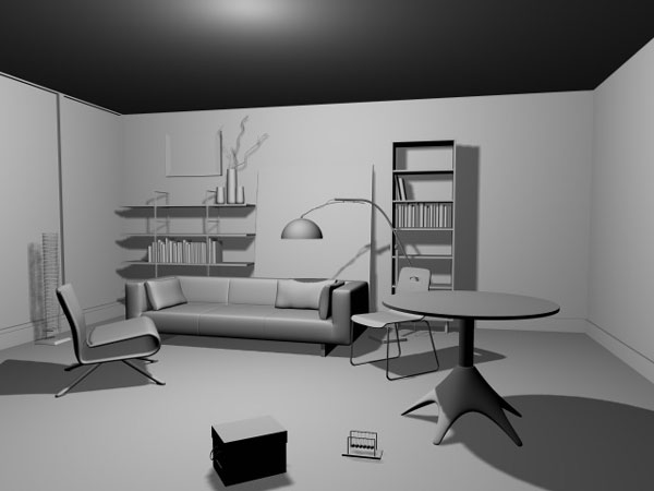 Living room interior design 3ds 3d studio max software for Room modeling software
