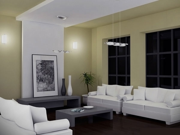 living room night scene max 3ds max software