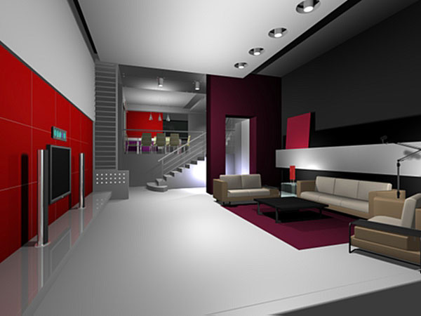 Design decoration furniture interior home office 3ds for 3d room builder