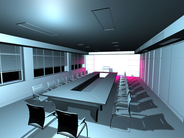 Meeting room office visualization max 3ds max software for Room modeling software