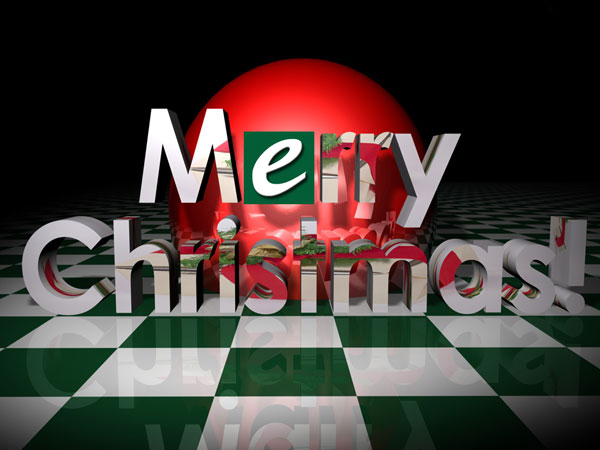 2009 Merry Christmas greeting Merry Christmas wish, (.3ds) 3D ...