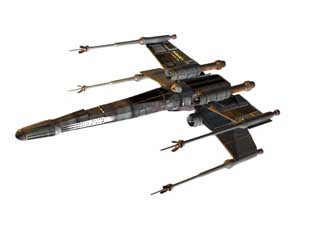 Star Wars Spaceships and Vehicles X-wing, (.3ds) 3D Studio.