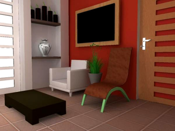 Modern interior living room render max 3ds max for Living room 3ds max