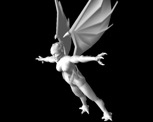 Flying monster character fantastic creature, ( 3ds) 3D Studio