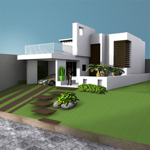 House villa home residence cottage building, (.max) 3ds max. Architecture