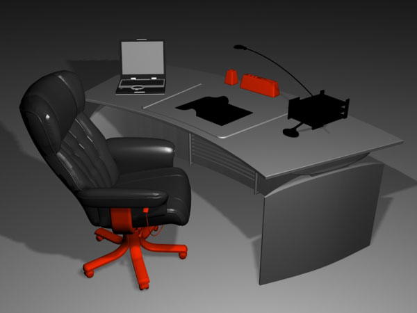 Office table modern high tech 3ds 3d studio max software household items - Table basse high tech ...