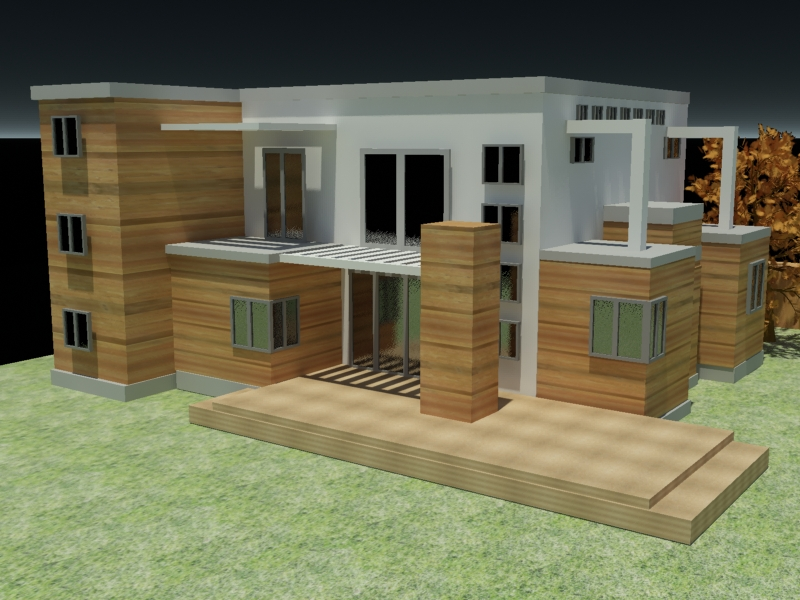 ... home exterior house, (.max) 3ds max software Architecture Objects