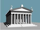 Parthenon Ancient Greek temple Athens, (.dwg) AutoCAD, Architecture.