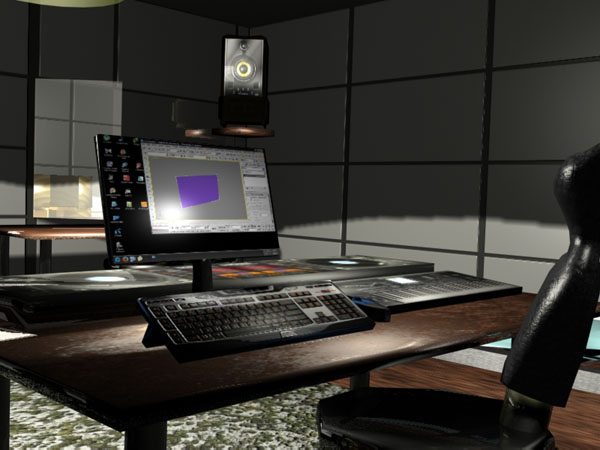 Pc Workdesk Home Office Interior Max 3ds Max Software