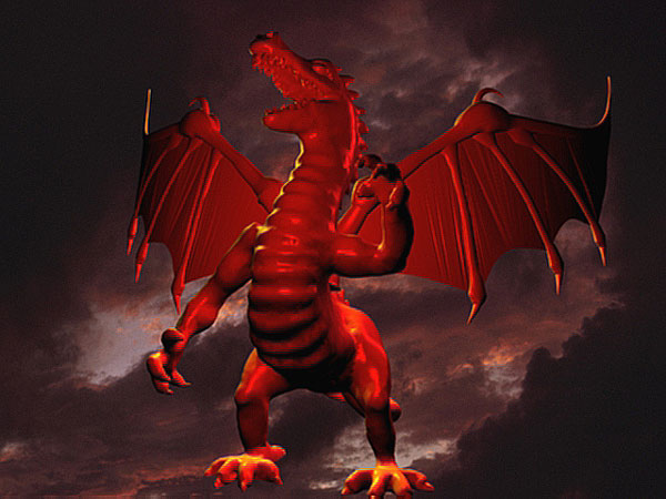 Red Dragon Chinese Type Draco    3ds  3D Studio Max Software Life