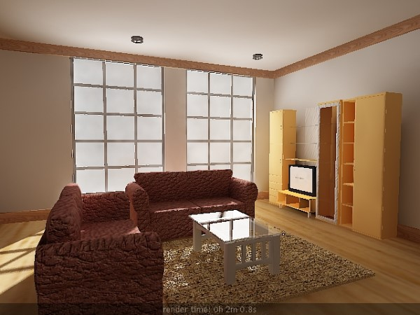 Interior design scene living room furniture max 3ds for 3d model room design