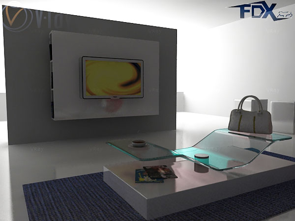 Interior modern tv living room 3ds 3d studio max for Room modeling software