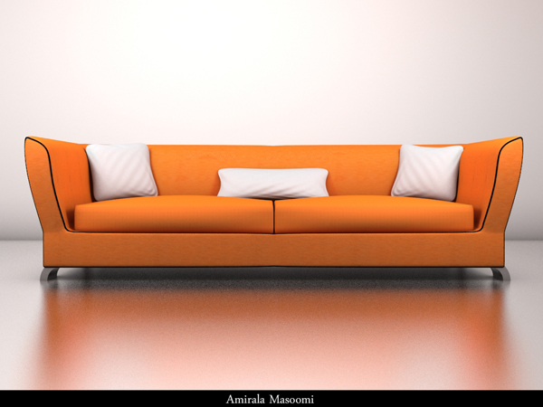 Modern design style Sofa seat furniture, (.max) 3ds max software ...