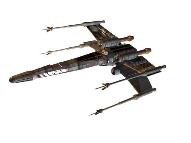 Star wars spaceships and vehicles x wing 3ds 3d studio software