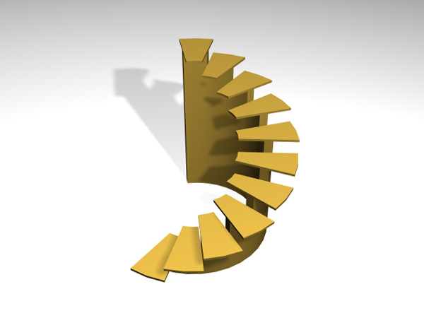Spiral Stairs With Carriage 3ds 3d Studio Max Software