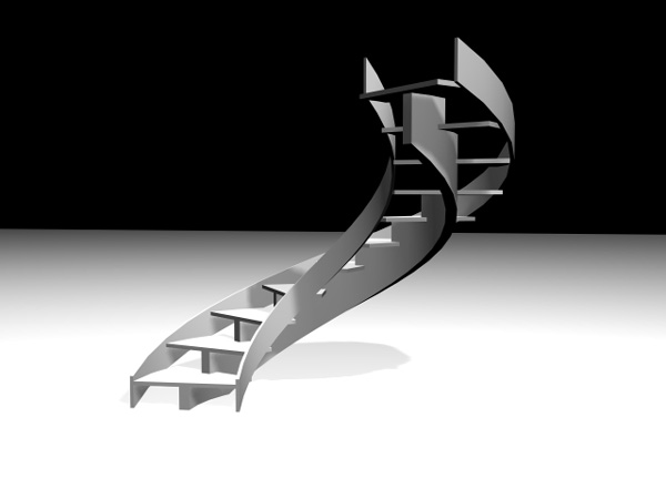 Stringers Staircases Spiral Stairs 3ds 3d Studio Max Software Architecture Objects