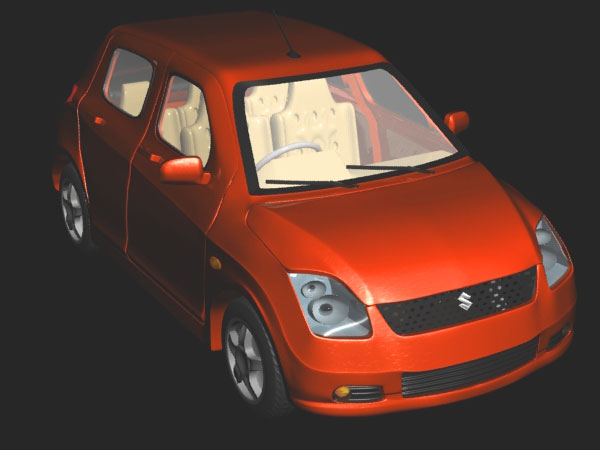 Maruti Suzuki Swift Hatchback Car 3ds 3d Studio Max Software