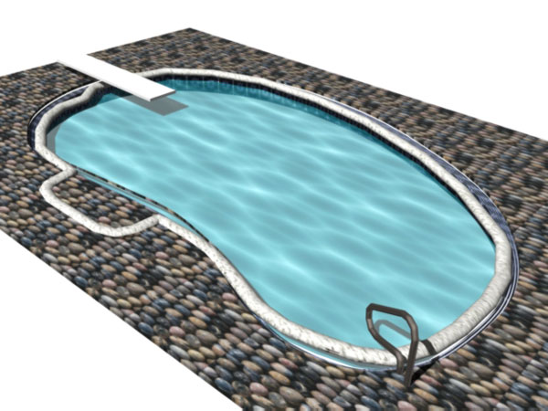 Swimming pool bath designs 3ds 3d studio software architecture objects for Swimming pool 3d model free download