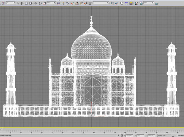 Taj Mahal mausoleum Agra, ( 3ds) 3D Studio Max software