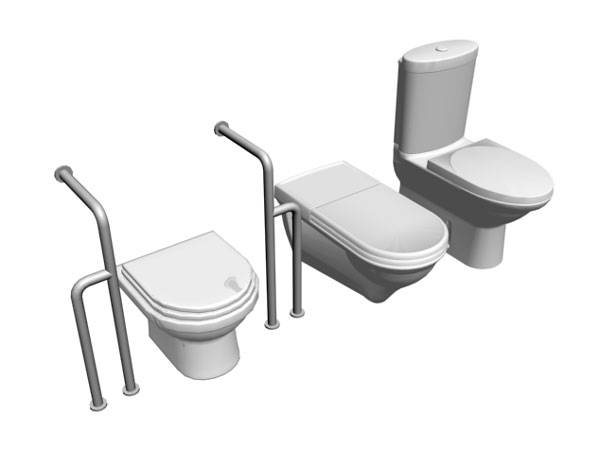 Toilet accessories toilet installation 3ds 3d studio software household items - Toilet toilet model ...